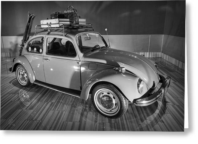 Vw Beetle Greeting Cards - Travellers Super Beetle 001 BW Greeting Card by Lance Vaughn