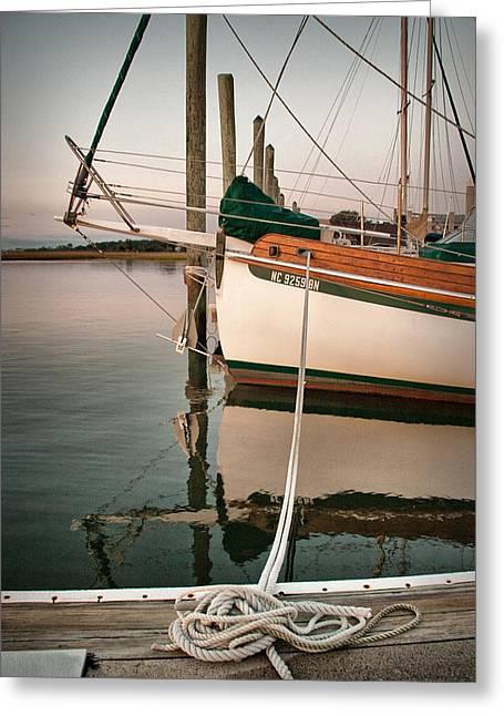Sailboat Photos Digital Art Greeting Cards - Travelers Rest Greeting Card by Phil Mancuso