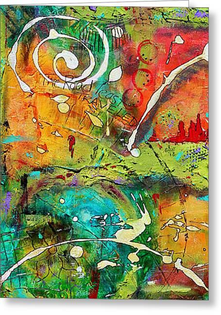 Survivor Art Greeting Cards - Traversing This Land Greeting Card by Angela L Walker
