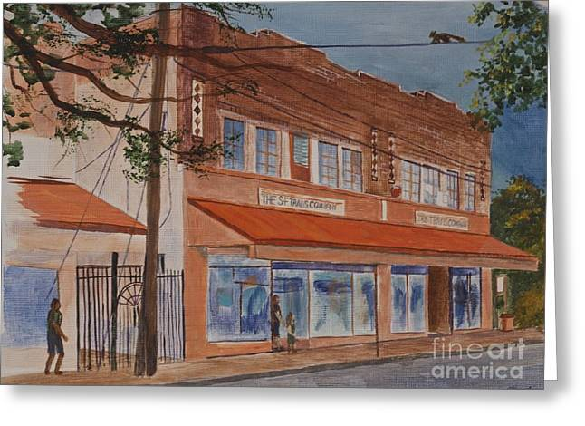 Hardware Paintings Greeting Cards - Travis Hardware Store Sketch Greeting Card by AnnaJo Vahle