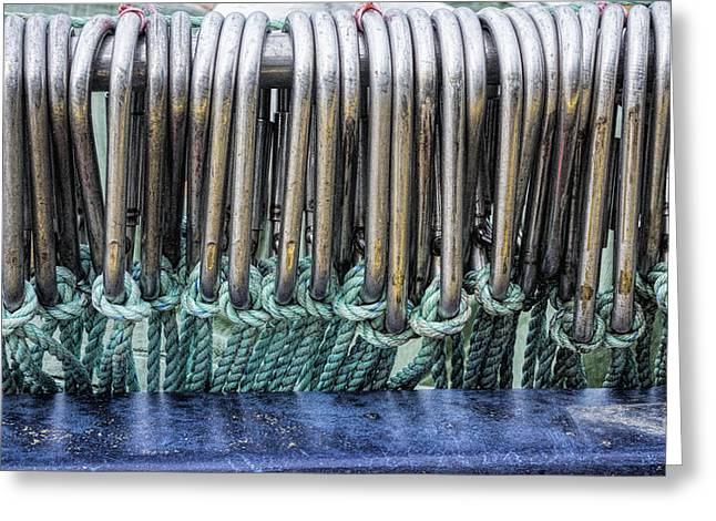 Boat Hardware Greeting Cards - Trawler Gear Greeting Card by David Stone