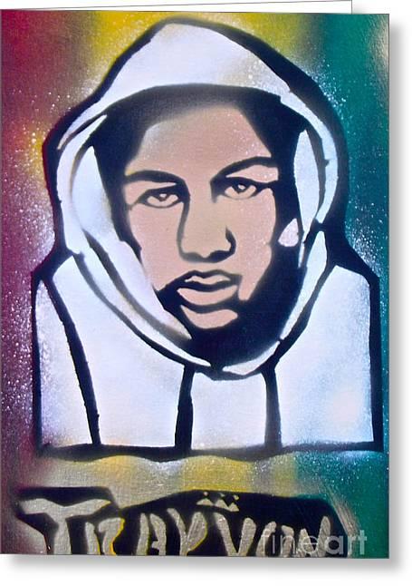 Conservative Greeting Cards - Trayvon Rasta Greeting Card by Tony B Conscious