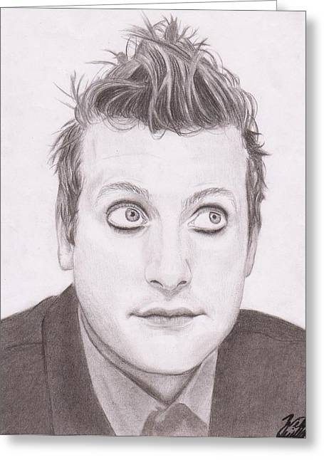 Green Day Greeting Cards - Tre Cool Greeting Card by Willow Quillen