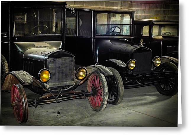 Ford Model T Car Greeting Cards - TREADS of TIME Greeting Card by Karen Wiles