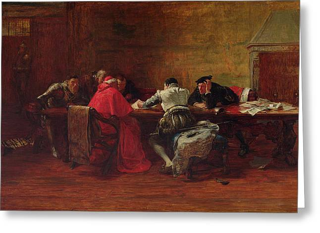 Conspiracy Greeting Cards - Treason, 1867 Greeting Card by John Pettie