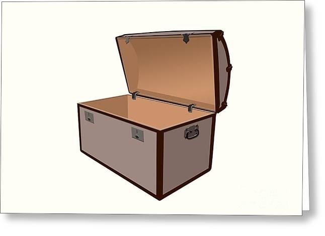 Buccaneer Digital Art Greeting Cards - Treasure box Greeting Card by Sinisa Botas