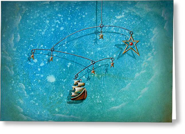Pirate Ships Paintings Greeting Cards - Treasure Hunter Greeting Card by Cindy Thornton