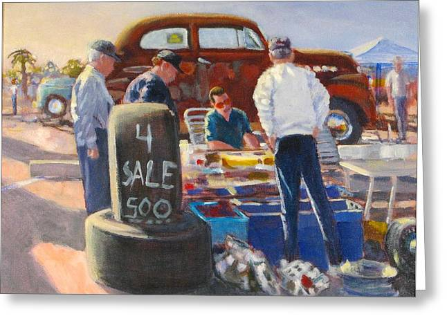 Old Grinders Paintings Greeting Cards - Treasure Hunters Greeting Card by Bill Tomsa