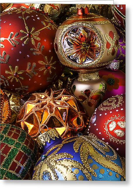 December 25th Greeting Cards - Treasured Ornaments Greeting Card by Garry Gay