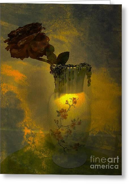 Floral Digital Art Digital Art Greeting Cards - Treasures in a Vase Greeting Card by Beverly Guilliams
