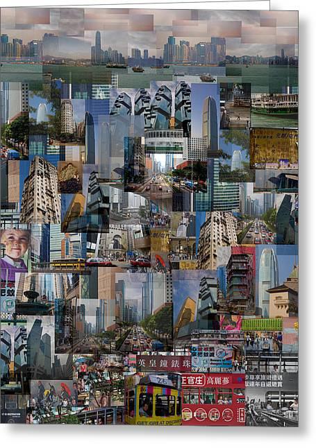 Kowloon Digital Art Greeting Cards - Treasures of Hong Kong Greeting Card by Anders Hingel