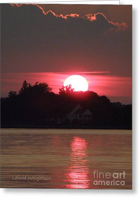 Lainie Wrightson Greeting Cards - Tred Avon Sunset Greeting Card by Lainie Wrightson