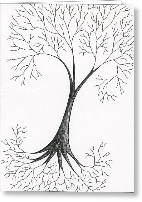 Tree Roots Drawings Greeting Cards - Excitement Greeting Card by Chris Bishop