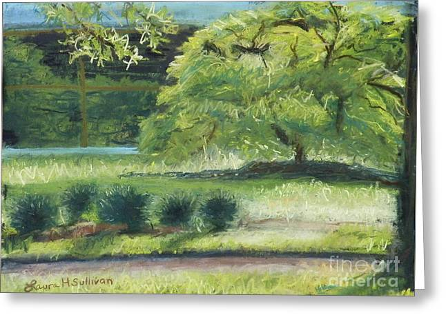 Purchase Pastels Greeting Cards - Tree and 5 Students Greeting Card by Laura Sullivan