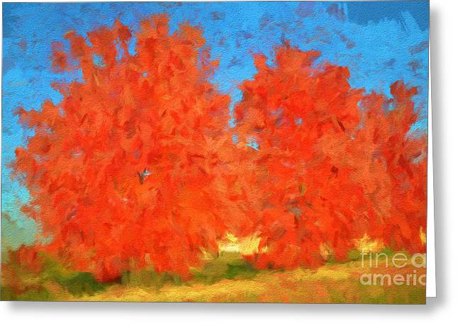 Fall Scenes Greeting Cards - Tree - Autumn Wonder - Luther Fine Art Greeting Card by Luther  Fine Art