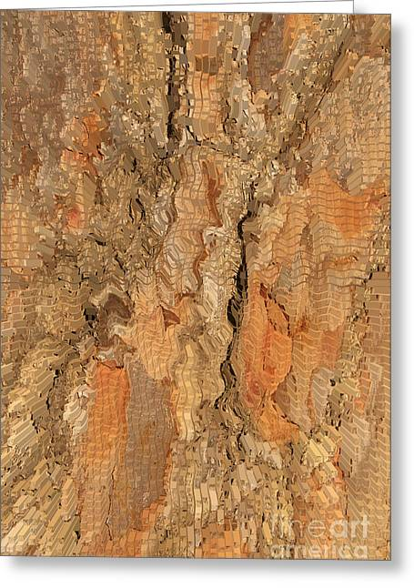 Tree Bark Abstract Greeting Card by Cindy Lee Longhini
