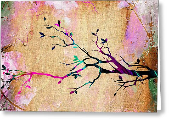 Backgrounds Greeting Cards - Tree Branch Collection Greeting Card by Marvin Blaine