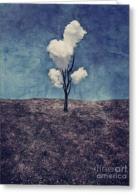 Greeting Cards - Tree Clouds 01d2 Greeting Card by Aimelle
