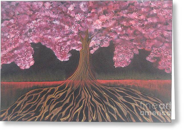 Tree Roots Drawings Greeting Cards - Tree Complete Greeting Card by Ruth Jamieson