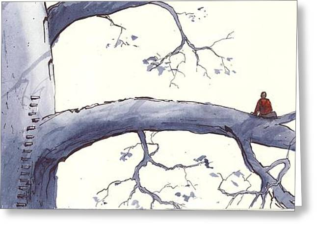 Loose Greeting Cards - Tree Contemplation 04 Greeting Card by Cameron Berglund