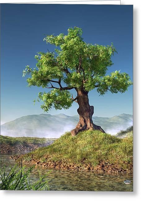 Lonly Greeting Cards - Tree Greeting Card by Daniel Eskridge