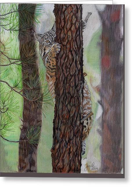 Tree Hugger Greeting Card by Gail Seufferlein
