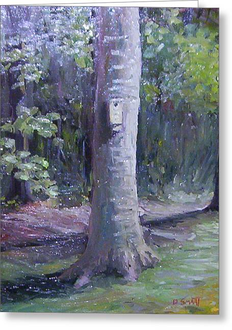 Fairy Painter Greeting Cards - Tree in My Backyard Greeting Card by Dan Smart