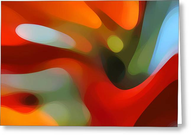 Abstract Movement Greeting Cards - Tree Light 4 Greeting Card by Amy Vangsgard