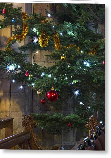 Twinkle Greeting Cards - Tree Lights and Baubles Greeting Card by Ian Mitchell