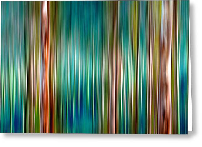 Nature Abstracts Greeting Cards - Tree Line Greeting Card by Az Jackson