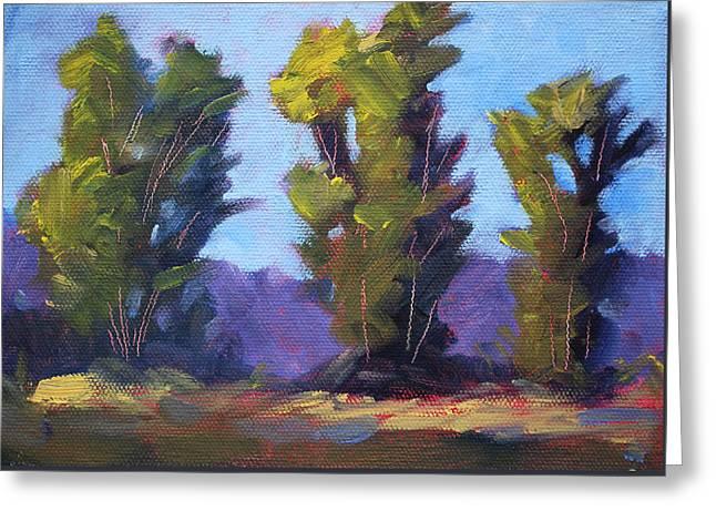 Tree Line Greeting Card by Nancy Merkle