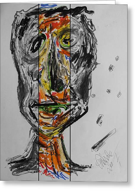 Tree Man 2011 Greeting Card by Sir Josef Social Critic - ART