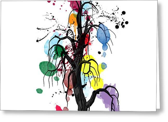 tree Greeting Card by Mark Ashkenazi