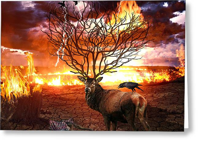 Wildlife Digital Art Greeting Cards - Tree of Death Greeting Card by Marian Voicu