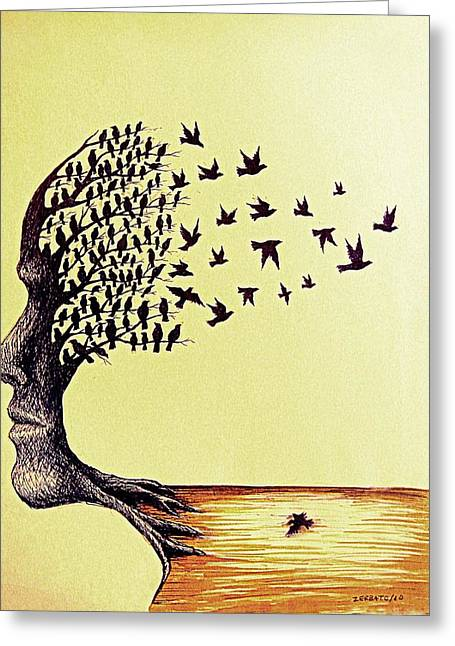 Remembering The Life Greeting Cards - Tree Of Dreams Greeting Card by Paulo Zerbato