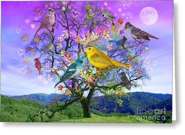 Photographs Digital Greeting Cards - Tree of Happiness Greeting Card by Alixandra Mullins