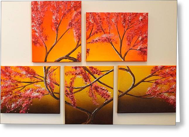Burnt Umber Greeting Cards - Tree of Infinite Love Greeting Card by Darren Robinson