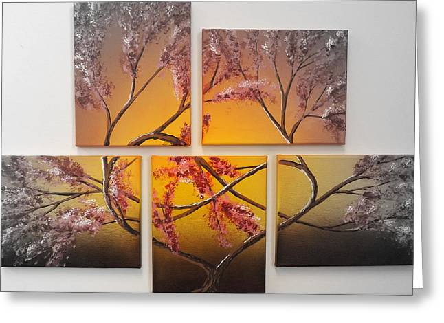Infinite Art Greeting Cards - Tree of Infinite Love Spotlighted Greeting Card by Darren Robinson