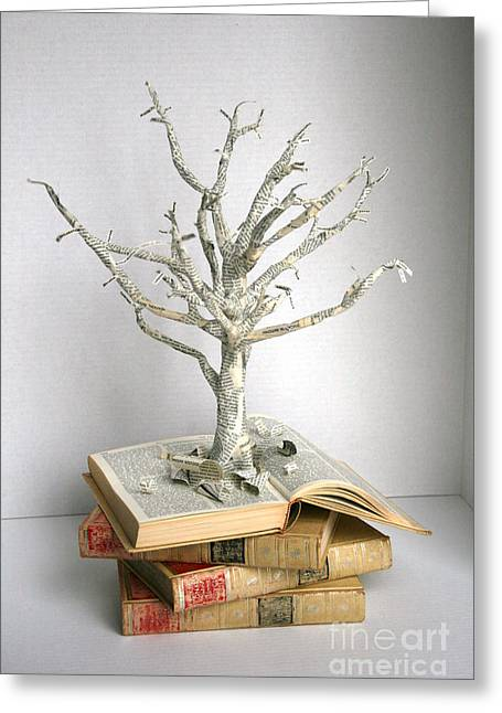 Blanche Guernsey Greeting Cards - Tree of Knowledge Greeting Card by Blanche Guernsey