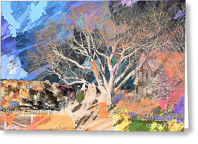 Label Greeting Cards - Tree of Knowledge Greeting Card by Marcia Lee Jones