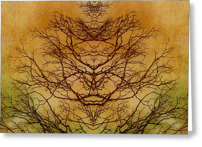 Tree Of Life Abstract Nature Greeting Card by Melissa Bittinger