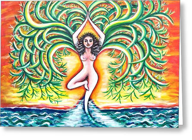 Tree Roots Greeting Cards - Tree of Life Greeting Card by Anya Heller
