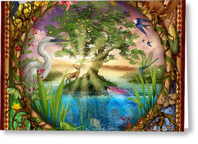 Woman Framed Prints Greeting Cards - Tree of Life Greeting Card by Ciro Marchetti