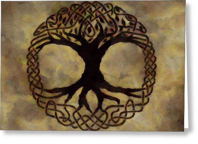Evolved Greeting Cards - Tree Of Life Greeting Card by Dan Sproul