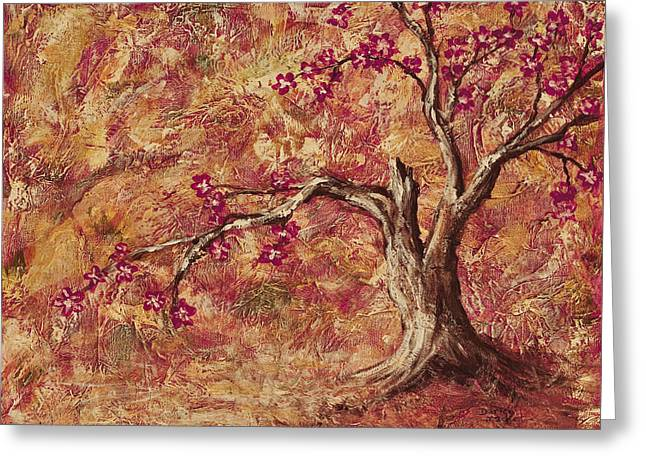 Blooming Mixed Media Greeting Cards - Tree Of Life Greeting Card by Darice Machel McGuire