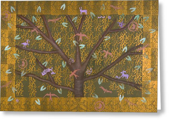 Tree Roots Mixed Media Greeting Cards - Tree of Life Greeting Card by Diana Perfect