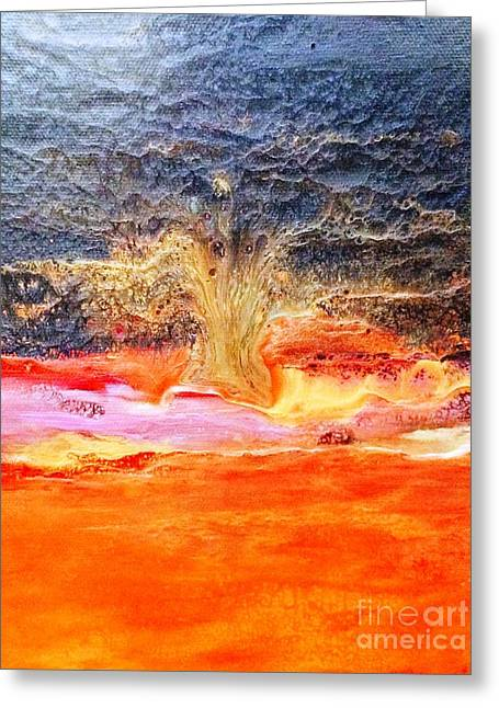 And Sand-mix Greeting Cards - Tree of Life Greeting Card by Dina Worzel