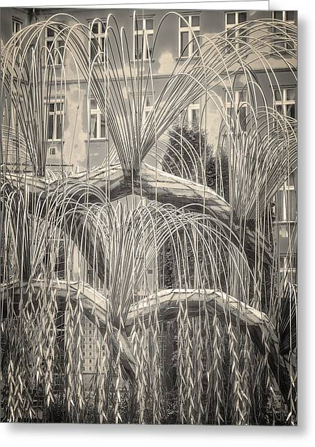 Weeping Greeting Cards - Tree of Life Dohany Street Synagogue Greeting Card by Joan Carroll