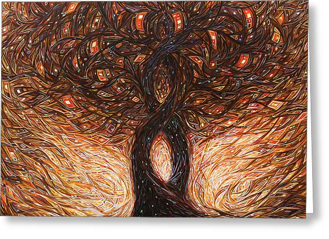 Helix Greeting Cards - Tree of Life Greeting Card by Eduardo Rodriguez