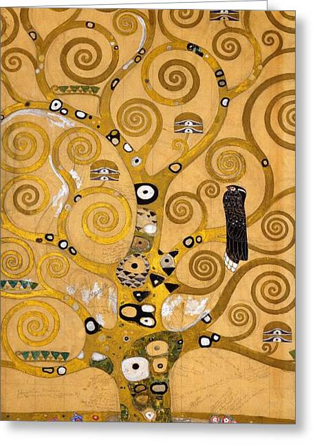 Literary Greeting Cards - Tree of Life Greeting Card by Gustav Klimt